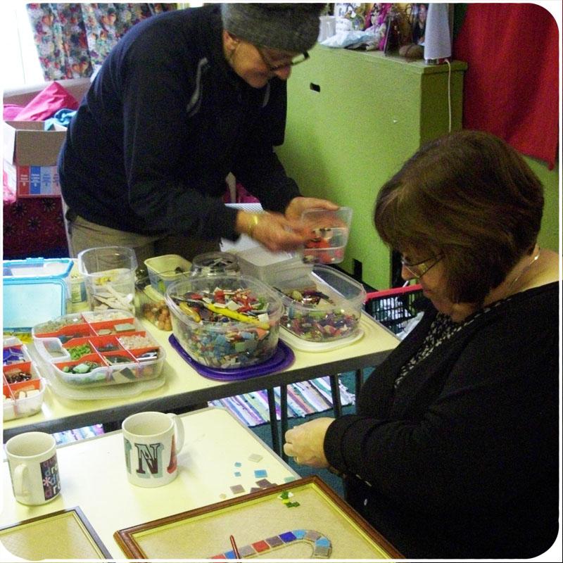 Mosaic Workshop @ De-Junk, Re-Junk